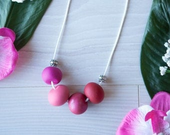 Bailey—Handmade necklace with cute pastel polymer clay beads