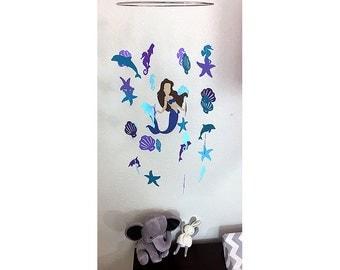 Mermaid Mobile - Baby Mobile - Nursery Mobile - Mermaid Crib Mobile - Under the Sea Nursery - Under the Sea - Mermaid Baby Shower -