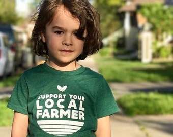Support Local Farmers, Kids shirt, Sustainable shirt, Organic Ag, Support Farmers, Farmers Market, Youth Tshirt, Childrens, Magnolia Roots