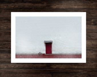 minimal print red door photography dreamy fantasy print red white art painterly surreal minimalistic photo fantasy story conceptual  print