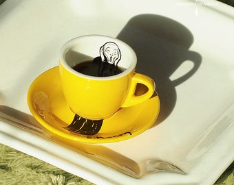 Edvard Munch_Scream -_Espresso Cup_YELLOW