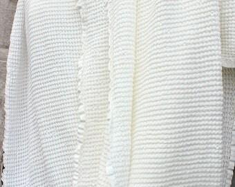 Linen throw.Linen blanket.Linen sofa cover.Linen bed cover.Textured linen throw. Baltic linen throw. Linen beach blanket.Gift for her