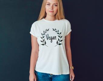 Vegan Shirt Animal Cruelty Vegan Tee - Vegan Crown Shirt Animal Activist Shirt for Vegan Woman - Vegan Crown Animal Shirt Vegan Clothing