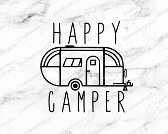Happy Camper Decal - RV Decal - Camper Decal - Happy Camper Vinyl Decal