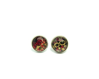 Ear/chips Cabochons Earrings: Art Deco