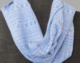 Handwoven Scarf, hand dyed, silky soft