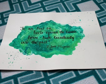 Gatsby Watercolor Calligraphy