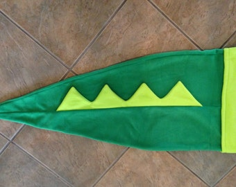 Alligator Tail Blanket, Dino Tail, Lizard Tail Blanket, Mermaid Tail for boys, Shark tail blanket, Fleece Dino Tail, for boys, Green dino