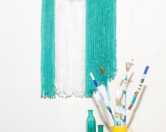 Turquoise & Caicos Boho Starter Kit // Yarn Wall Hanging // Painted Sticks // Boho Decor