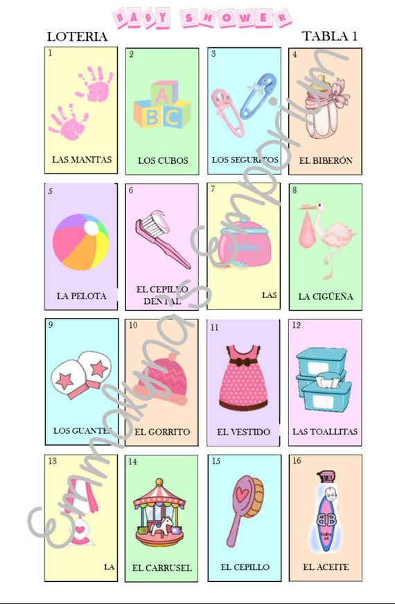 Loteria para baby pictures to pin on pinterest tattooskid for Bingo tattoo ideas