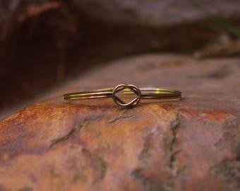 Brass Golden Knot Bracelet (minimalistic)
