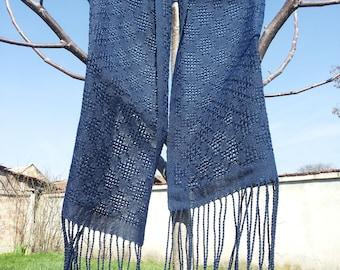 Dark Blue Cotton Scarf