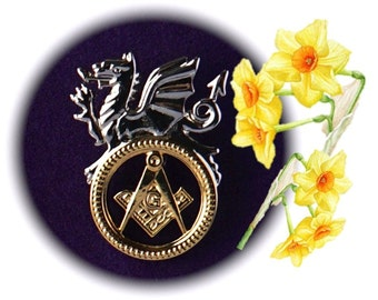 Welsh Heritage Masonic Freemasons Pin Badge