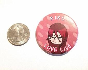 Love Live Sunshine Pinback Button - Riko Sakurauchi
