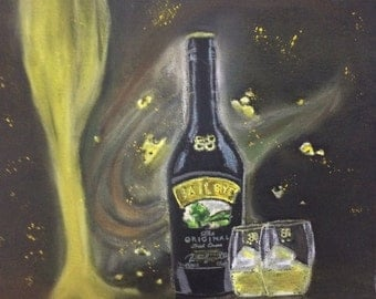 Baileys, soft pastel painting