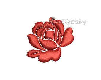 Mini Rose Machine Embroidery Design 3 Sizes