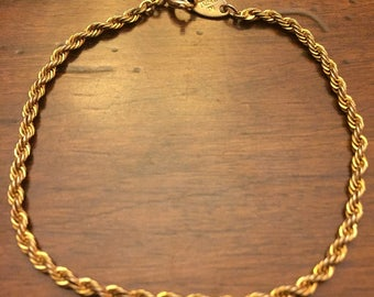 Vintage TRIFARI Gold Rope Bracelet