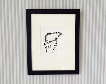 Shell - Framed Original Illustration - Natalie Blofield