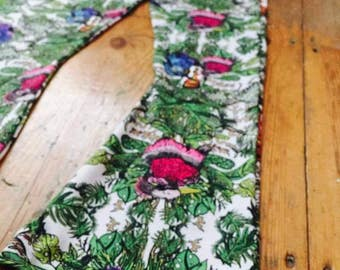 Flaired tropical bird trousers
