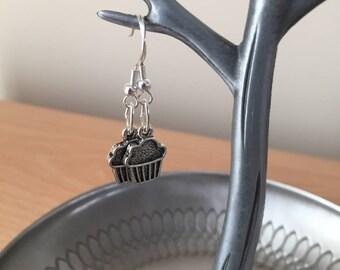 CupCake Earrings, Muffin Earrings, Charm Earrings