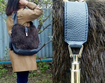 Beaver Fur Crossbody Handbag