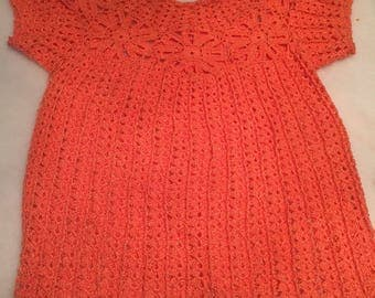 Crochet Blouse Salmon Color