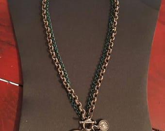 Cute 12 gauge toggle necklace
