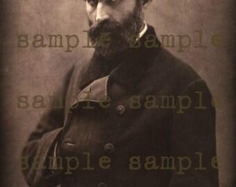 instant DIGITAL DOWNLOAD Printable Art Portrait Gorgeous Mysterious Vampire  Antique Photograph Halloween Printable ART Weird Rare Photo