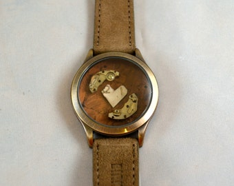 LOVE is all YOU NEED, Assemblage Art for your Wrist (Steampunk Bracelet)