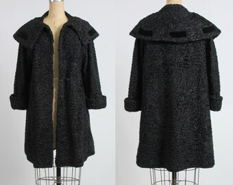 SALE Lambswool Coat . Vintage Outer Wear