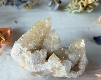 Spirit Quartz - Spirit Quartz Crystal - White Spirit Quartz Cactus Quartz Fairy Quartz - White Colorless Spirit Quartz Crystal