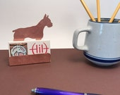 Boxer Business Card Holder Copper Desk Accessory Boxer dog gifts for dog lover Boxer items dog gifts