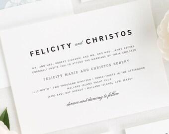 Urban Romance Wedding Invitations - Deposit