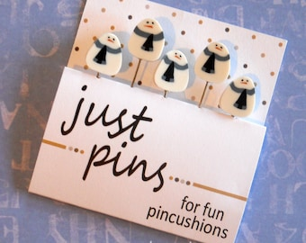 FROSTY PINS.  Perfect for Decorating Ornaments & Pin Cushions.