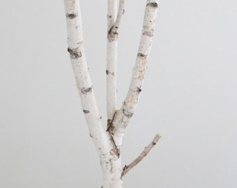 Sale:  white birch tree - wooden tree, nursery decor, rustic christmas,