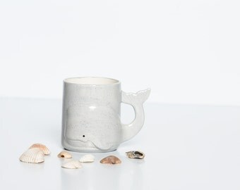 Unique Coffee Mugs | Gray Whale | Coffee Mugs | Trending-Now | Gift for Boyfriend Handmade Ceramic from my Charleston, SC Studio