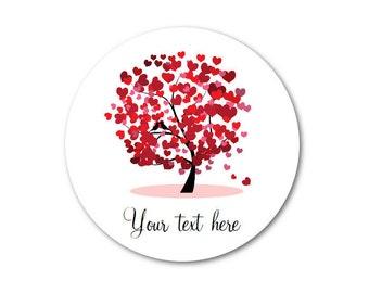 """Heart Stickers - Valentine Hearts - Valentine Stickers - Love Stickers - Valentine Gift Wrap - 1.25"""", 1.5"""" or 2"""""""