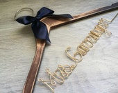 Bridesmaid Gift | Personalized Wedding Hanger | Custom Bridal Hangers | Custom Made Hangers | Bridesmaids Gift | Wedding Hangers with Names