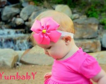 Baby headband, baby headbands, Pink headband, newborn headband, Bow headband, Easter Headband, baby headbands, Pink Hair bows