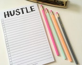 Hustle Notepad // To Do List // To Do Notepad // Funny To Do List // Funny Notepad // Magnetic Notepad // To Do Checklist // Maker List