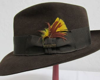 1980's Royal Stetson Men's Sable Brown Fedora - Dead Stock With Original Box Included - Size: 7 1/8