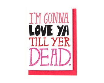 Valentineu0027s Day Card   I Love You Card   Romantic Card   Funny Love Card