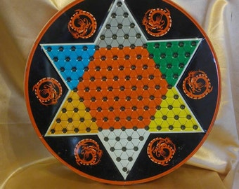 Vintage Ohio Art Chinese Checkers Tin Board