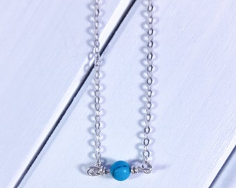 Turquoise Single Bead Necklace