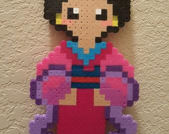Perler Beads Mulan Character