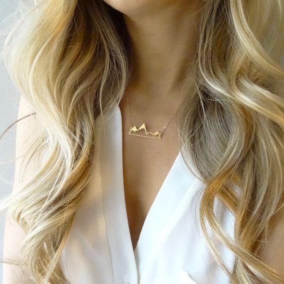 Gold Mountain Range Necklace