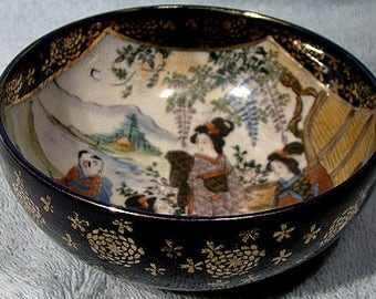 Nambe 19thC Meiji Japanese Satsuma Bowl