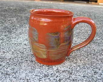 Red Mug with Color Patches