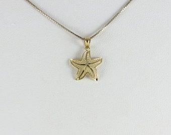 14k Yellow Gold Starfish Pendant