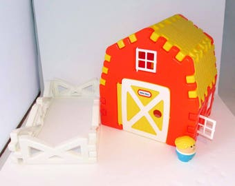 Little Tikes Wee Waffle Farm Building Set Toddle Tots 1990s - Incomplete, No Animals